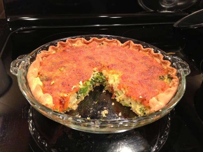 Vegetable-Cheese Quiche